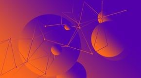 Фиолетовая планета в космосе Стоковое Изображение