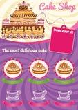Фиолетовая предпосылка для шаблона торта Стоковые Фотографии RF