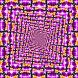 Фиолетовая предпосылка орнамента расходится от середины к краям Стоковое Изображение