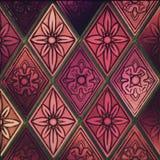 Фиолетовое стеклянное винтажное окно Стоковые Фотографии RF