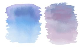 Фиолетовое чувствительное пятно акварели Стоковые Изображения
