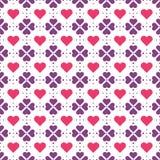 Фиолетовые цветки и красная картина вектора сердец иллюстрация вектора