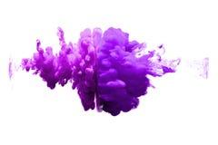 Фиолетовый и фиолетовый цвет воды на белой предпосылке Стоковые Фото