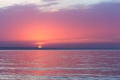 Фиолетовый туманный рассвет стоковые фото