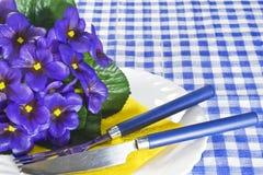 фиолеты плиты стоковое фото