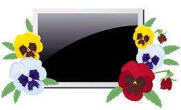 фиолеты фото рамки Стоковое Изображение