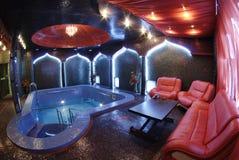 фиолет бассеина мебели красный Стоковая Фотография