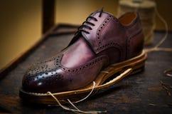 фиолет ботинка строения Стоковая Фотография RF