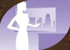 фиолет городского пейзажа Стоковые Фотографии RF