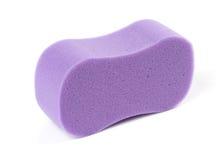 фиолет губки ванны овальный Стоковая Фотография RF