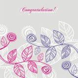 фиолет листьев розовый Стоковая Фотография RF