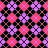 фиолет пинка предпосылки argyle безшовный Стоковая Фотография