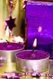 фиолет подарка коробки Стоковые Фотографии RF