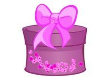 Фиолет подарка на рождество Стоковые Фотографии RF