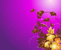 фиолет предпосылки флористический Стоковая Фотография