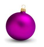 фиолет рождества шарика Стоковая Фотография