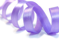 фиолет сатинировки тесемки Стоковое фото RF