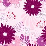 фиолет флористической картины безшовный Бесплатная Иллюстрация
