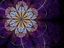 фиолет фрактали цветка Стоковая Фотография