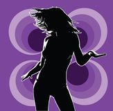 фиолет 01 диско Стоковое Фото