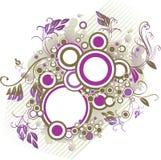 фиолет grunge круга Стоковые Изображения RF