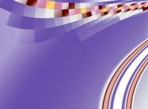 Фиолетовая абстрактная предпосылка фрактали с кривыми и пикселами Стоковые Фото