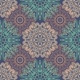 Фиолетовая безшовная картина с орнаментами tracery Стоковое Фото