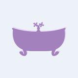Фиолетовая ванна с краном Стоковая Фотография