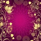 Фиолетовая винтажная рамка Стоковые Изображения RF