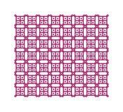 Фиолетовая геометрическая картина, безшовная Стоковое Изображение RF