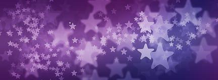 Фиолетовая звёздная предпосылка для фото крышки Facebook Стоковые Изображения RF