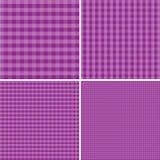 Фиолетовая и белая предпосылка для пикников 10 eps Стоковые Фотографии RF