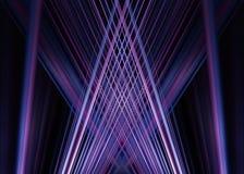 Фиолетовая и голубая светлая предпосылка следов Стоковое фото RF
