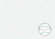 Фиолетовая и зеленая предпосылка Guilloche Стоковая Фотография RF