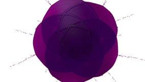 Фиолетовая капелька чернил падает на белую поверхность 3d представляют жидкость как сок с очень высокой маской детали и альфы для иллюстрация штока