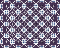 Фиолетовая картина батика Стоковая Фотография
