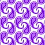 Фиолетовая картина Пейсли безшовная геометрическая Стоковое фото RF