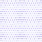 Фиолетовая картина сердца Безшовная предпосылка влюбленности вектора Стоковые Фотографии RF