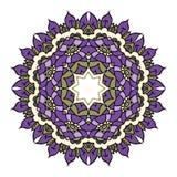Фиолетовая мандала вектора Стоковые Фотографии RF