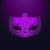 Фиолетовая маска масленицы иллюстрация вектора