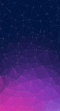 Фиолетовая предпосылка вектора с треугольниками Стоковые Фото
