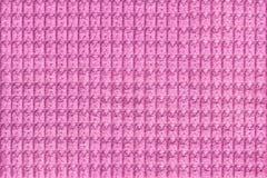 Фиолетовая предпосылка от мягкого ворсистого конца ткани вверх Текстура макроса тканей Стоковое Фото