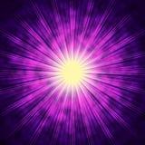 Фиолетовая предпосылка Солнця значит яркую звезду излучать иллюстрация штока