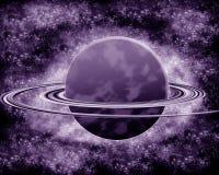 Фиолетовая планета - космос фантазии Стоковая Фотография