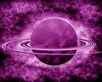 Фиолетовая планета - космос фантазии Стоковые Изображения RF