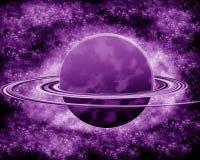 Фиолетовая планета - космос фантазии Стоковая Фотография RF