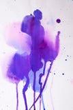 Фиолетовая розовая текстура акварели Стоковые Изображения