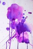 Фиолетовая розовая текстура акварели Стоковая Фотография
