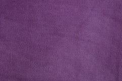 Фиолетовая текстура ткани ворсины Стоковые Фотографии RF