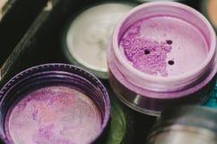 Фиолетовая тень глаза Стоковые Изображения